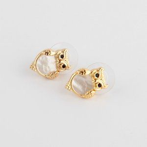 Kate Spade Simple Shell Owl Small Stud Earrings